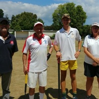 Semi-finalists, Greg Bryant, Stephen Mulliner (runner-up), Edward Wilson (winner) and Jenny Clarke